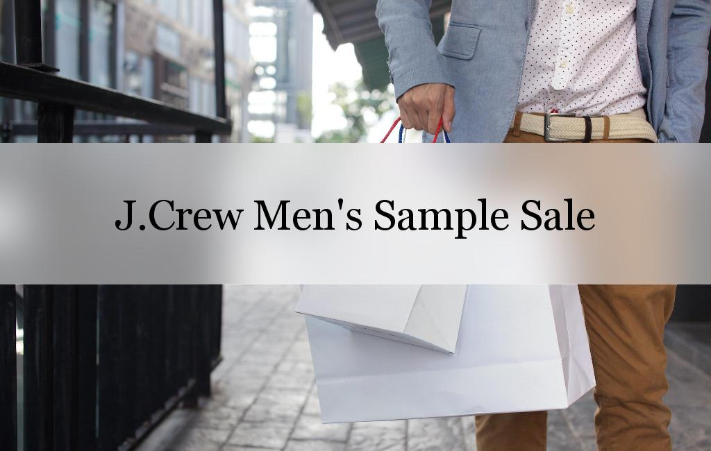 J.Crew Men's Sample Sale, New York, June 2017