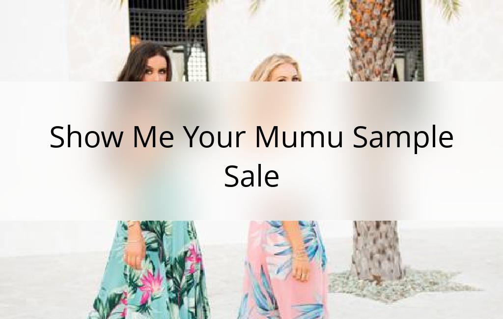 Show Me Your Mumu Sample Sale, Los Angeles, July 2017