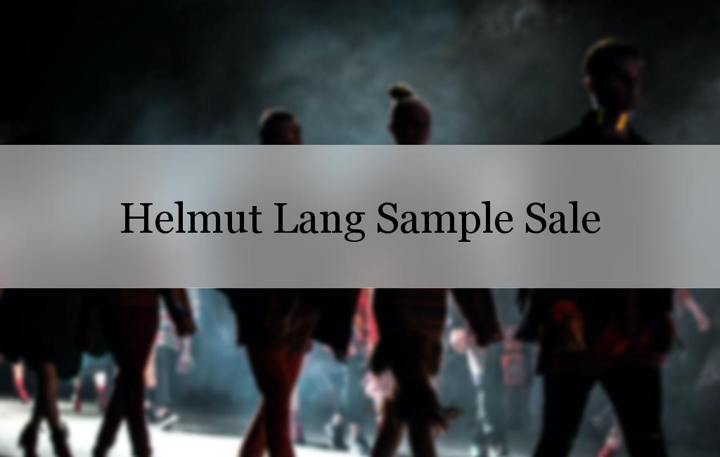 Helmut Lang Sample Sale, New York, June 2017